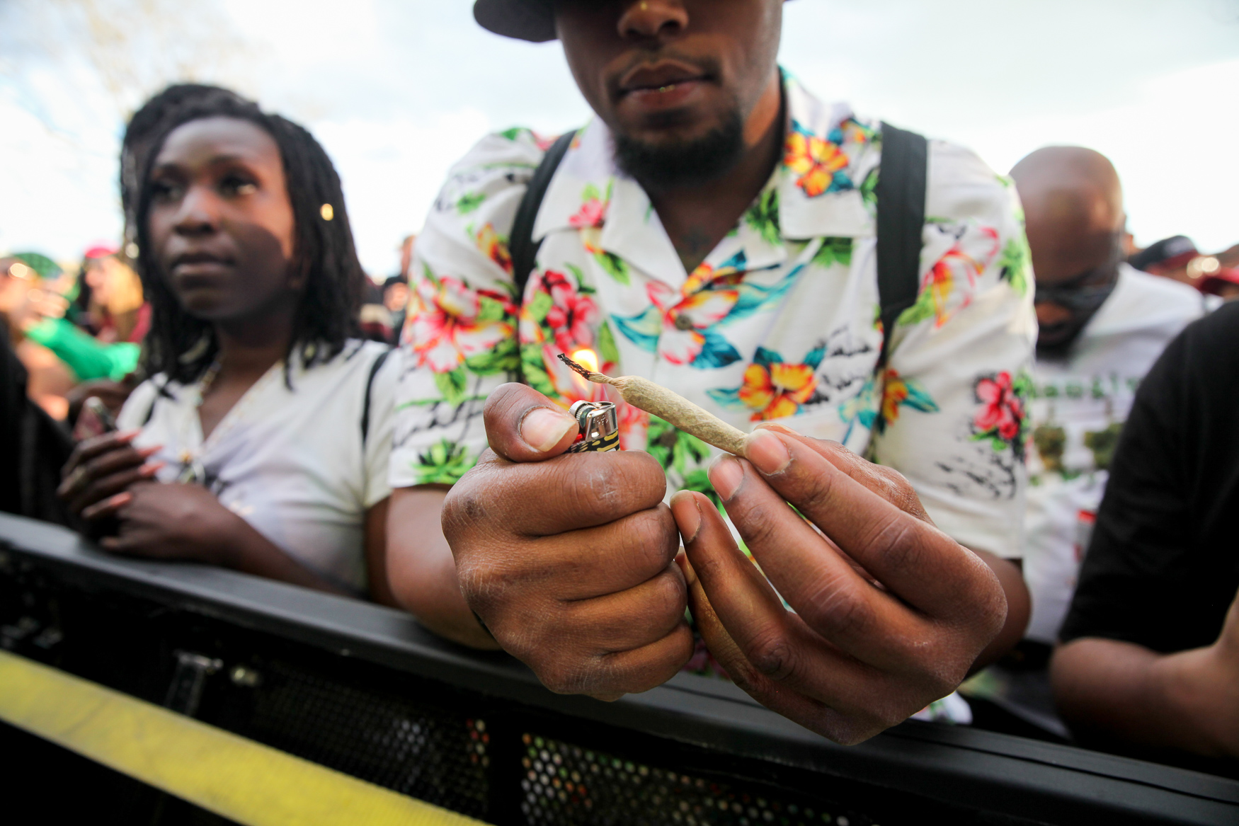 Thousands of people from the DMV and beyond joined in the 4/20 festivities at the fourth annual National Cannabis Festival. The grounds of RFK Stadium were packed with{ } people sampling cannabis, eating from one of the dozens of food trucks or learning more about cannabis activism. The festival also included live music, including Ludacris, Action Bronson and DJ Biz Markie and more. (Amanda Andrade-Rhoades/DC Refined)