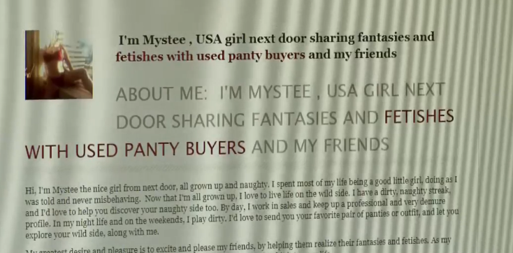 "Candidate Deborah Reno, who works as a massage therapist and yoga instructor, worked on a side hustle under the name Mystee Crockett. She's seen stripteasing in videos and has an online storefront that caters to ""used panty buyers."" (Photo: KUTV)"