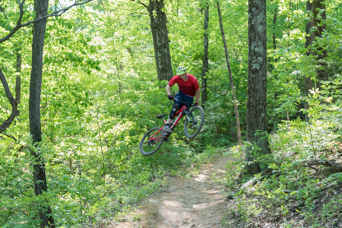 PLACE: Devou Park / ADDRESS: 790 Park Lane, Covington, KY (41011) / PRICE: free / This Kentucky park offers 12 trails that total 11.5 miles for mountain biking and hiking enthusiasts. The Cincinnati Off Road Alliance (CORA), a network of dedicated riders who maintain 60 miles of trails around the region, help preserve the trails as part of their network. Devou Park's system, which boasts 35,000 visits a year, offers something for beginners and experts alike. / WEBSITE: covingtonky.gov / Image: Mike Menke // Published: 3.17.20