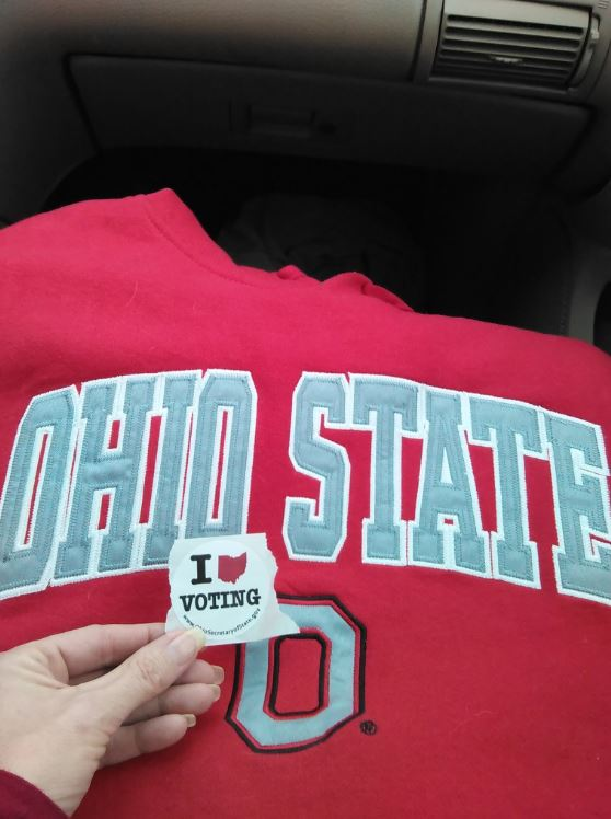 Representing the Buckeyes while casting a ballot