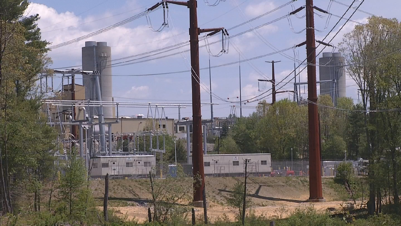 People who live near the Ocean State Power plant in Burrillville have complained about the noise and smell. (WJAR)