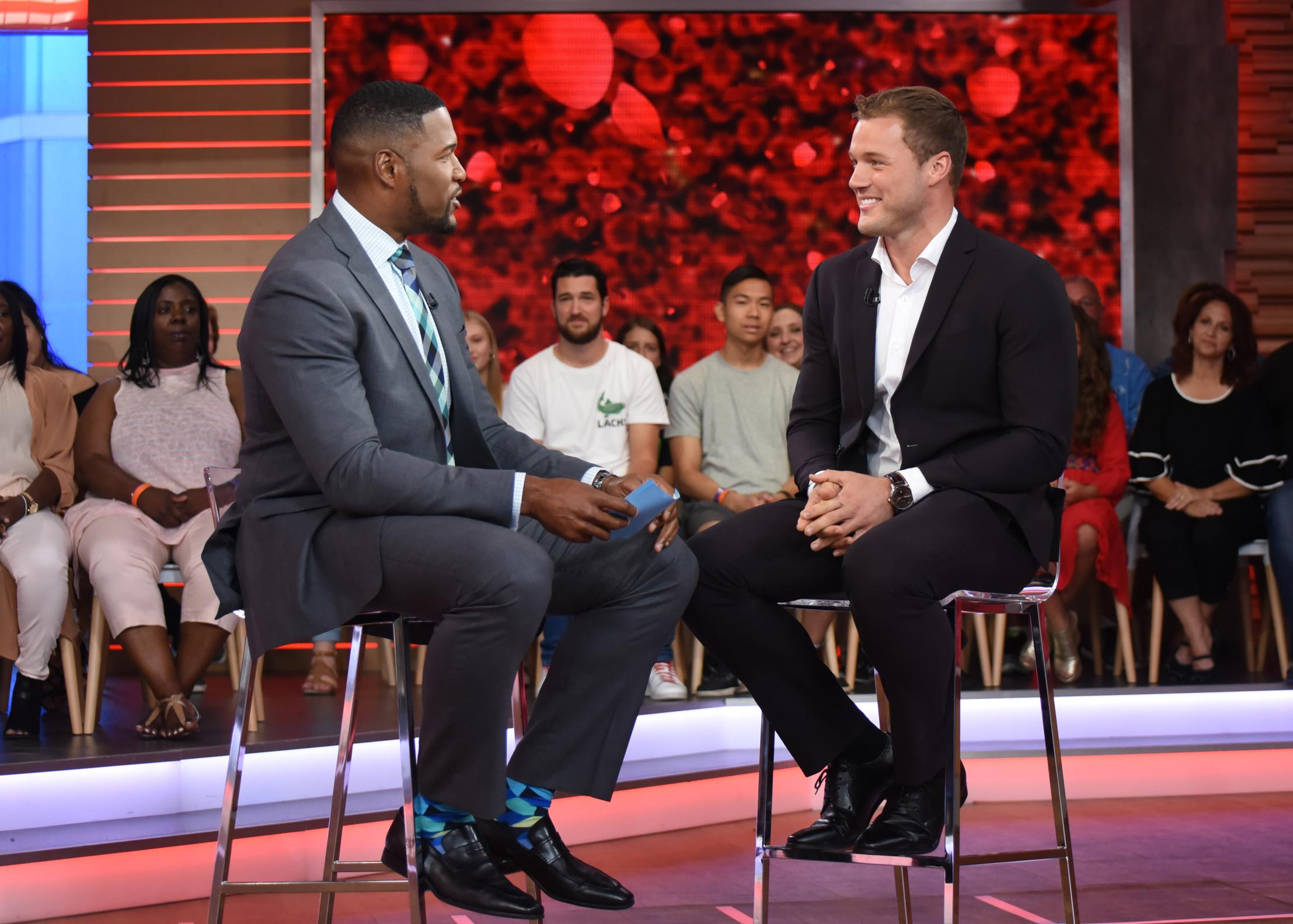 "After weeks of rumors, it was announced on Good Morning America that Colton Underwood would be the star of the 23rd season of The Bachelor.{ } According to ET, ""producers had three men in the running, including Jason Tartick, Blake Horstmann and Colton."" (Image: ABC/Paula Lobo)"