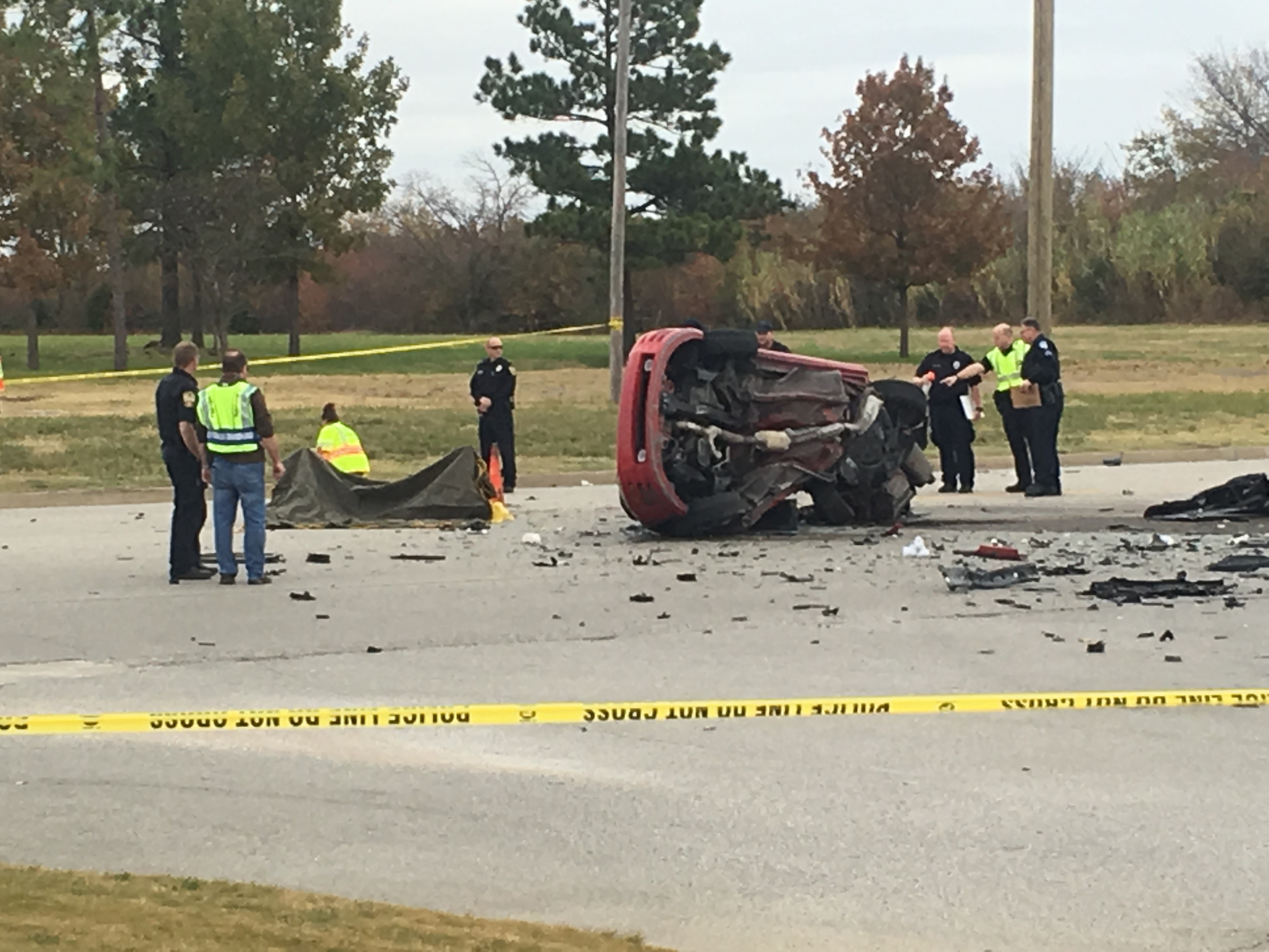 The Glenpool Police Department is investigating a deadly vehicle accident near Highway 117 and West 121t Street South in Glenpool. (KTUL){&amp;nbsp;}<p></p>