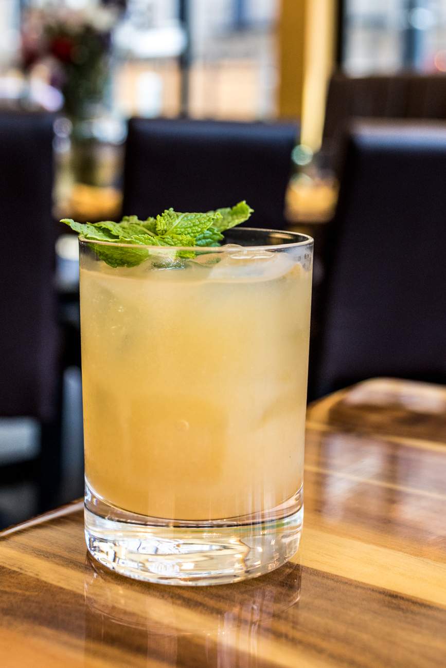 Whiskey Smash: bourbon, mint, lemon juice, and agave / Image: Catherine Viox // Published: 8.19.20