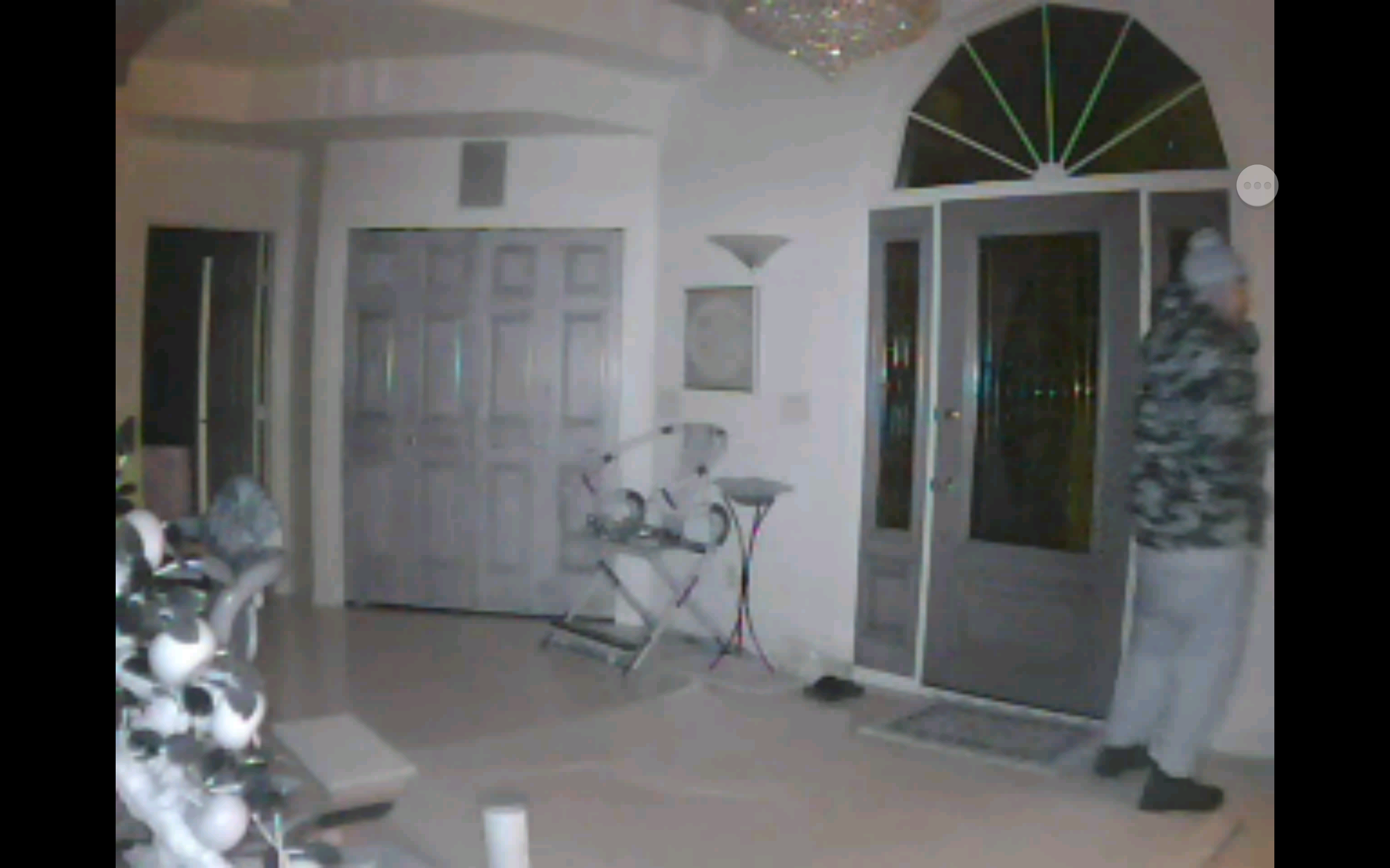 Surveillance video at a home in Bellevue shows a burglary suspect, December 15, 2017. (Photo courtesy of Brown County Sheriff's Office)<p></p>