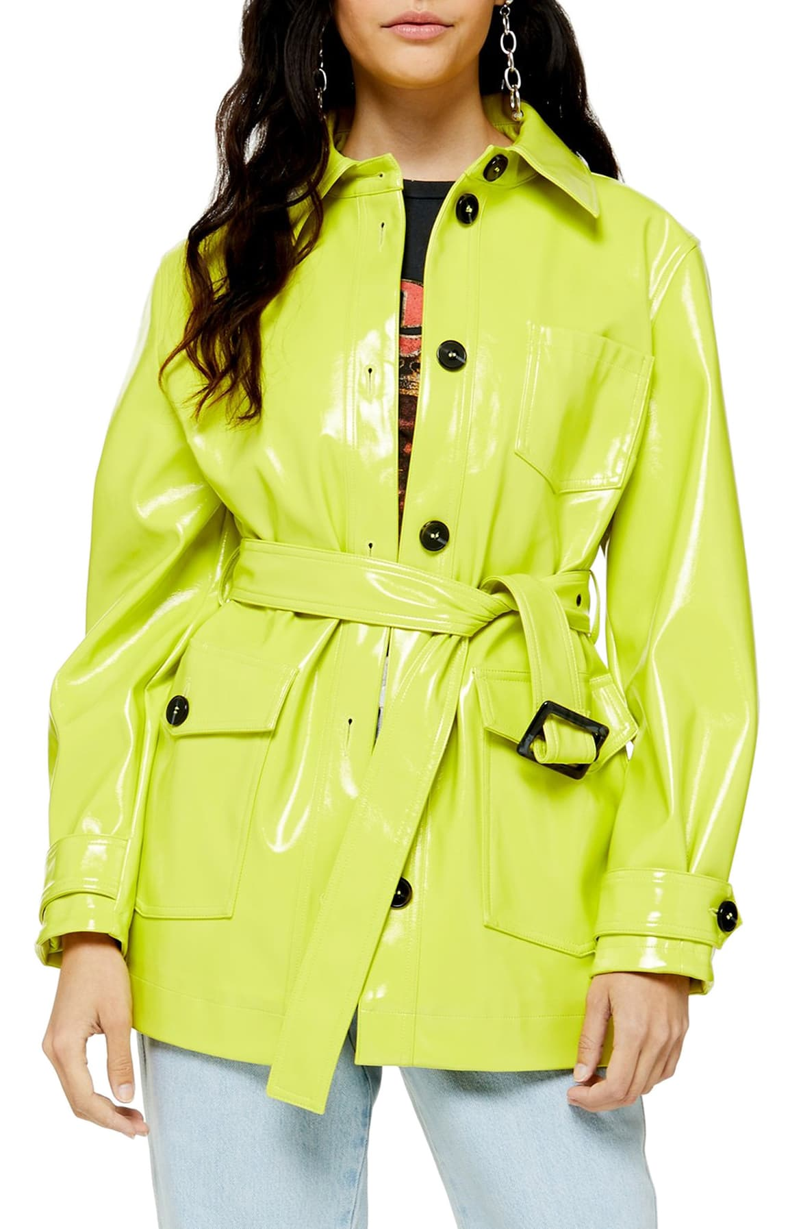 You'll stand out in a crowd in this neon rain coat, that's for sure.{ } Go full '80s with this $110 statement piece. (Image: Nordstrom){ }