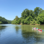 Kayakers spend Father's Day beating the heat on the Dan River