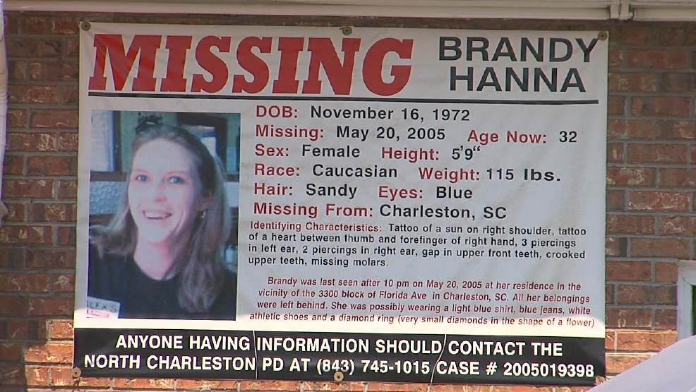 Time after time detectives searched for Hanna. They found nothing until 2011. Around May 23, 2011 police found a size 10 Nike sneaker with mud on it near Brandy's old apartment. (WCIV)