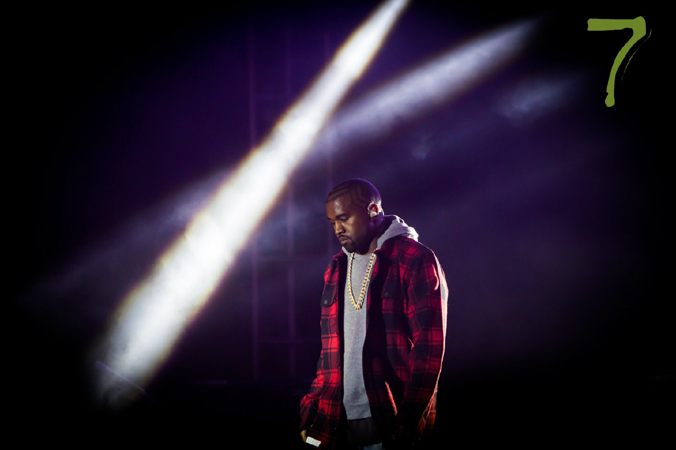 #7 - Jeff Schear, 31, is a Cincy native. But he's built quite a name for himself, photographing some of the biggest celebrities around the world. Check out the full photographer spotlight in the Travel section. / Pictured: Kanye West // Image: Jeff Schear