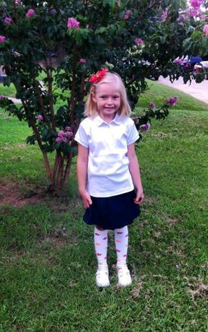 FOX 25 Facebook fans Ryan and Maggie Dunphy sent in this picture of their little girl heading off for the first day of school.