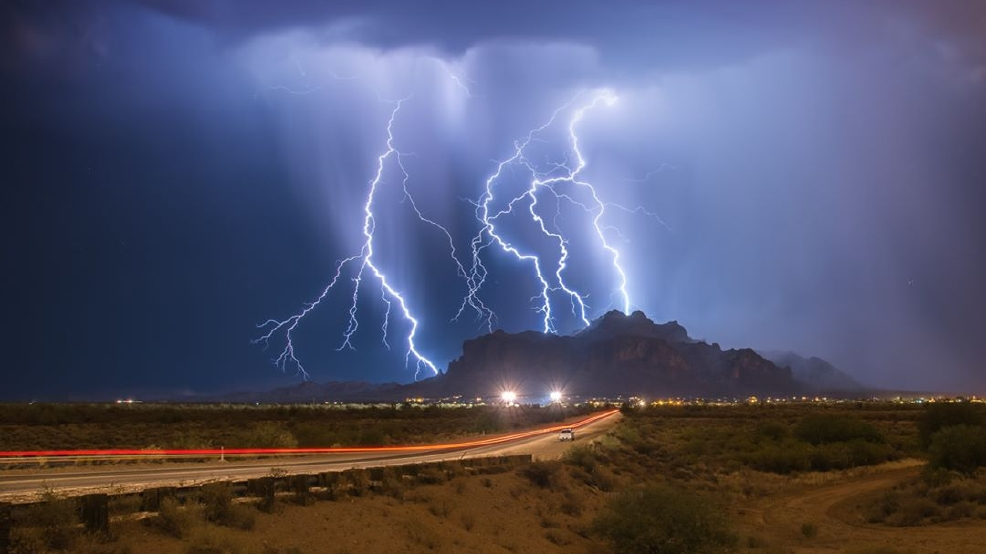 Spectacular lightning in Arizona