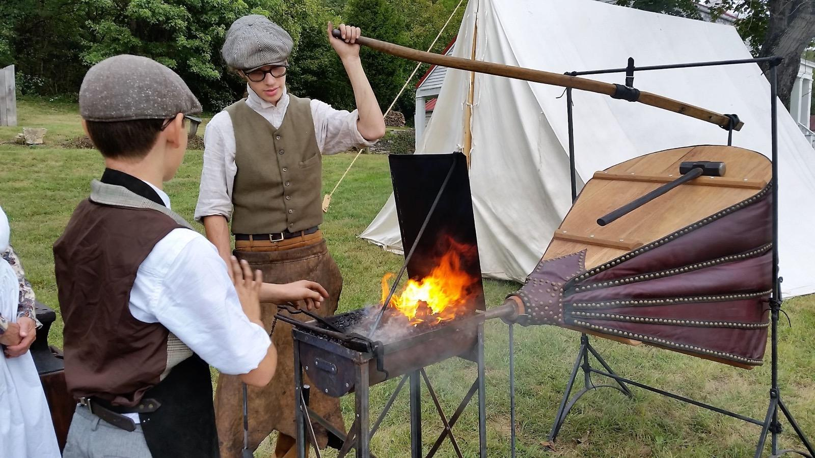 At Musée de Venoge, you'll learn about what life was like in the early 19th-century, when Swiss immigrants settled the region immediately to the west of Cincinnati. Period actors demonstrate the domestic arts and early gardening methods, in addition to making some pretty fantastic-looking breads, cheeses, and pies. / Image courtesy of the Switzerland County Historical Society // Published: 4.1.18