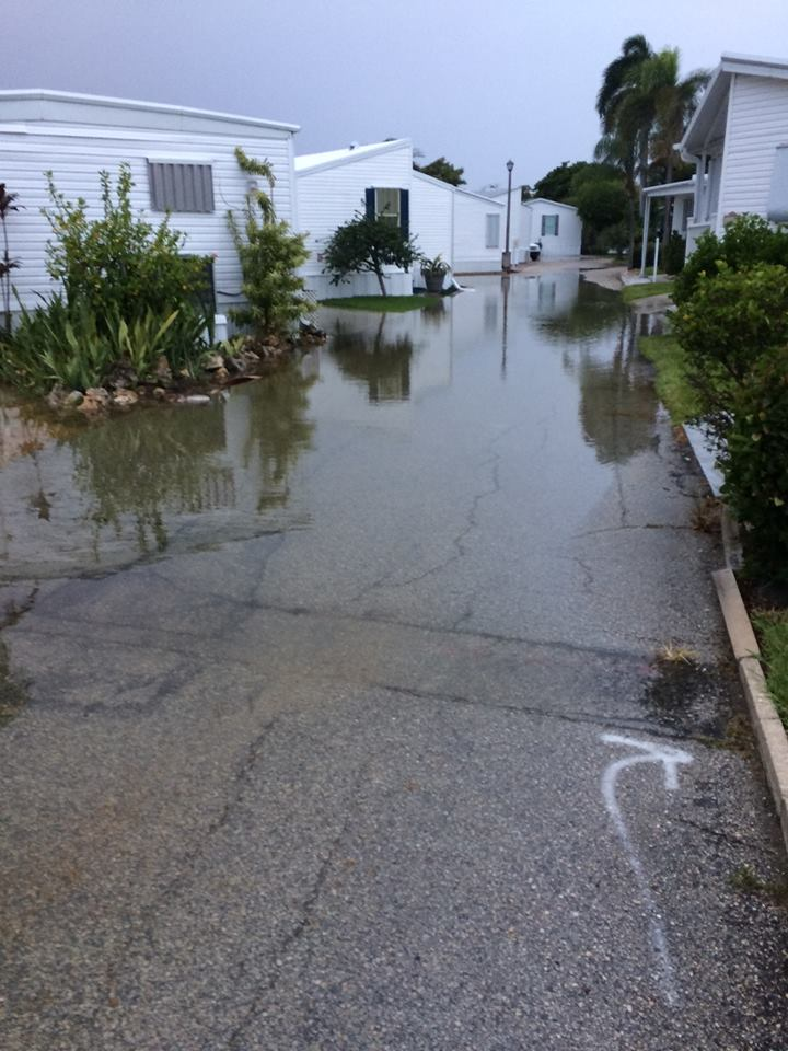 King Tide floods local Briny Breezes community (Photo:  Jack Lee, resident)