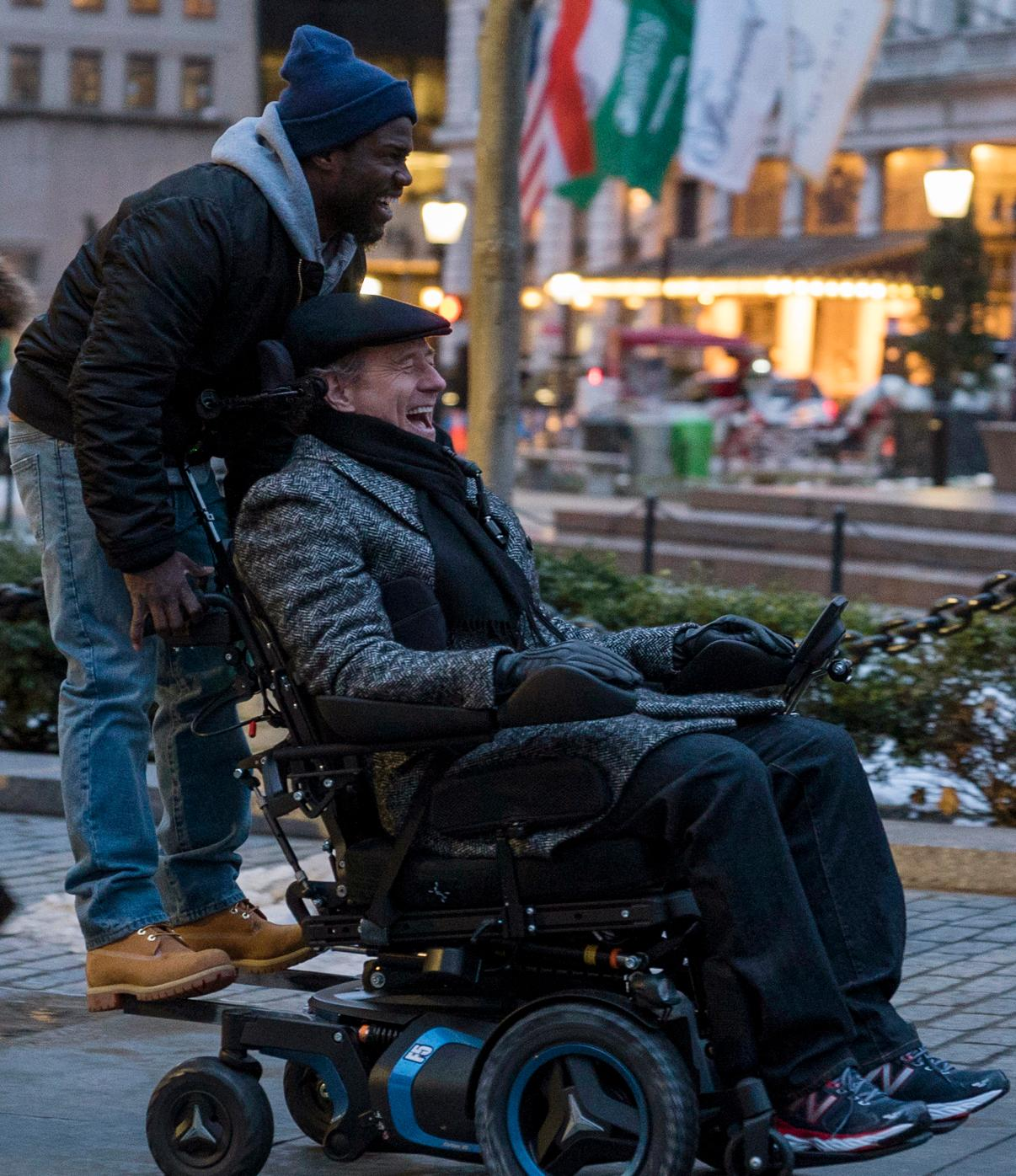 Kevin Hart and Bryan Cranston star in THE UPSIDE.{ }(Image: STX Films)