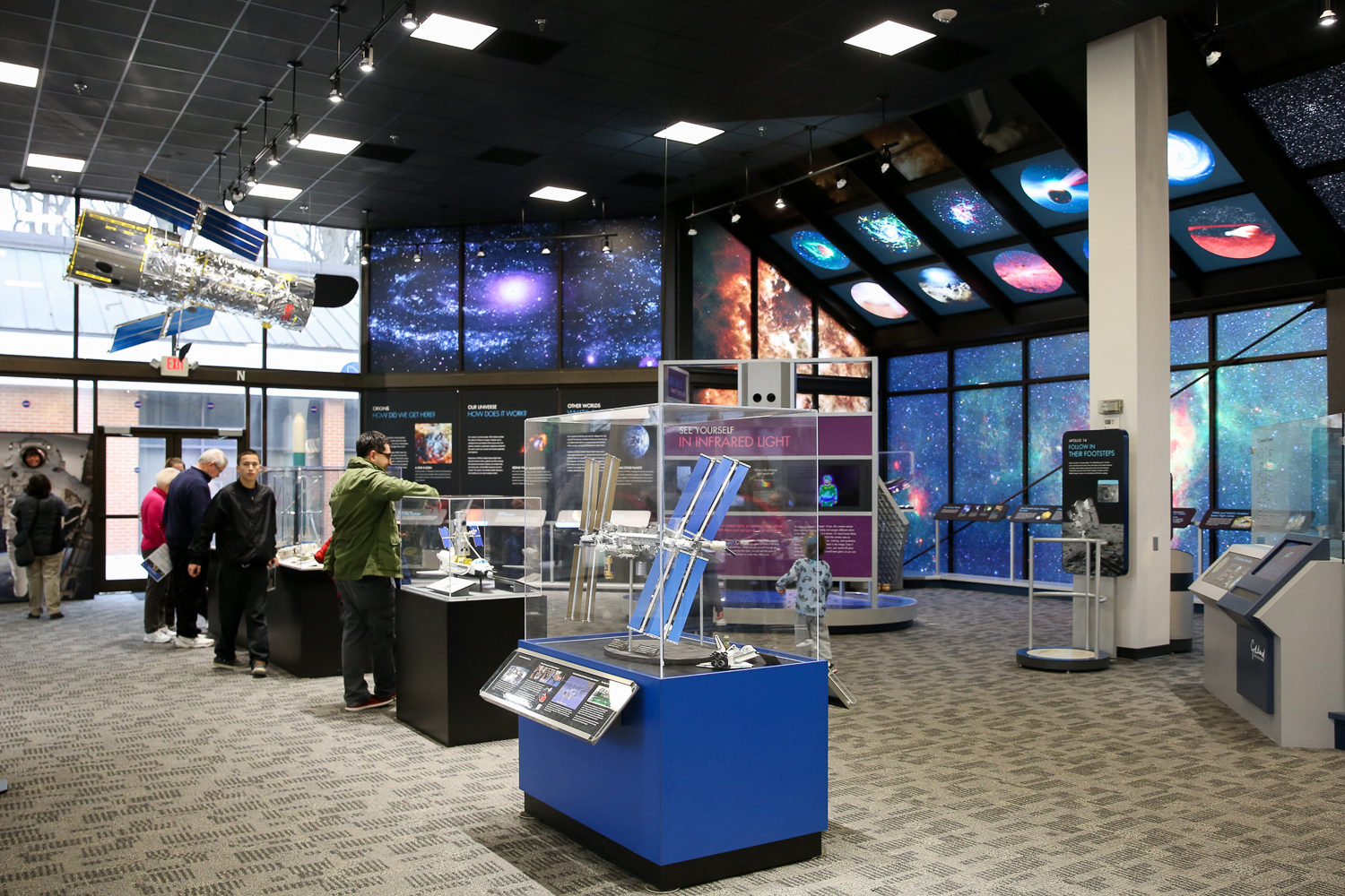 NASA Goddard Visitor Center is about 25 minutes outside of D.C., but this super interactive mini-museum is definitely worth the trek. In addition to high-tech displays and ultra-cool visuals, the Goddard Visitor Center offers straight forward information on NASA's role and contributions. The current exhibits also explore earth science in terms that are interesting enough for curious adults but still accessible for kids. Just outside the free exhibits, you can also get up close to space equipment and enjoy lunch on one of the many picnic tables. (Amanda Andrade-Rhoades/DC Refined)