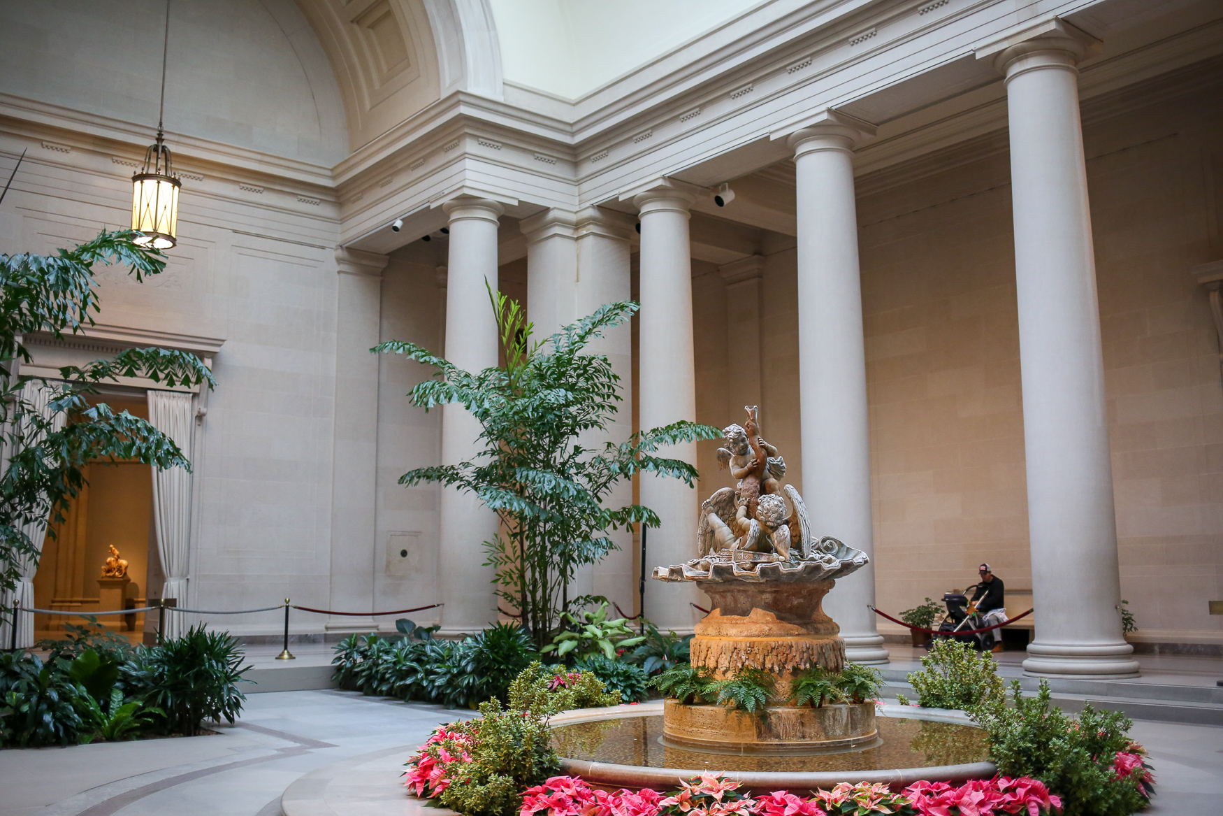 The National Gallery of Art's west building was established in 1937 and houses art from classical and modern artists. The neo-classic building also features plenty of interior courtyards with fountains.{ }(Amanda Andrade-Rhoades/DC Refined){ }