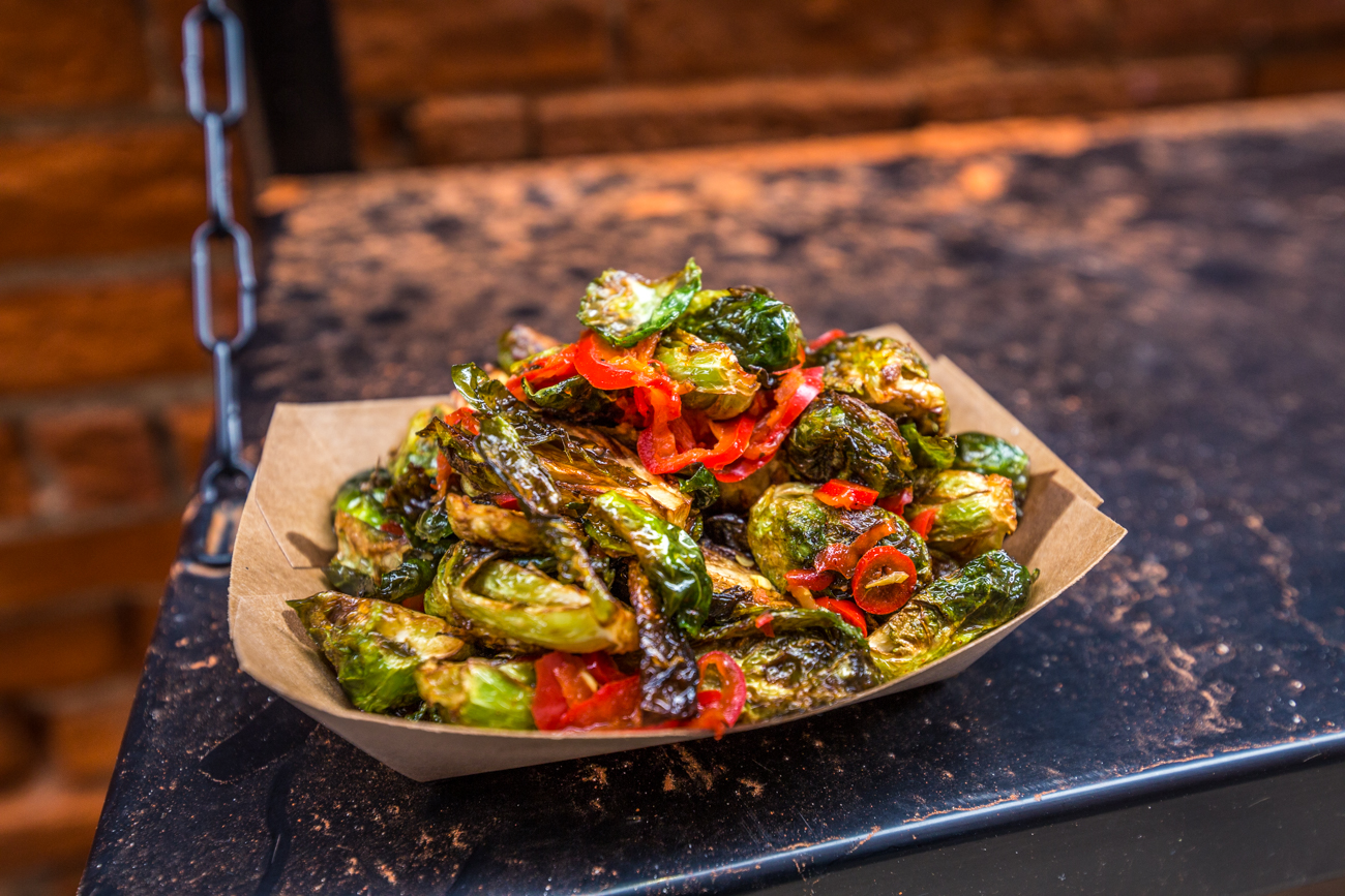 Fried brussel sprouts with a cane vinaigrette / Image: Catherine Viox{ }// Published: 4.27.19