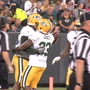 Former Miner Aaron Jones gets first taste of cheesehead-filled Lambeau Field