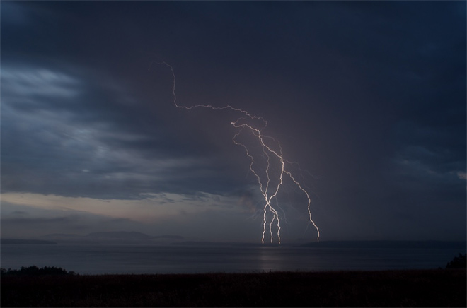 Lightning Strikes over the San Juan Islands ©Chris Teren, TerenPhotography.com