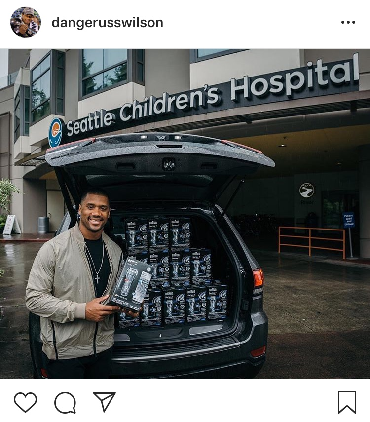 That one time he proudly donated the best water ever....Happy 30th, Russell! (Image: @dangerusswilcon / Instagram.com/dangerusswilson){ }