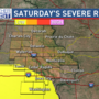 Strong storms possible Saturday