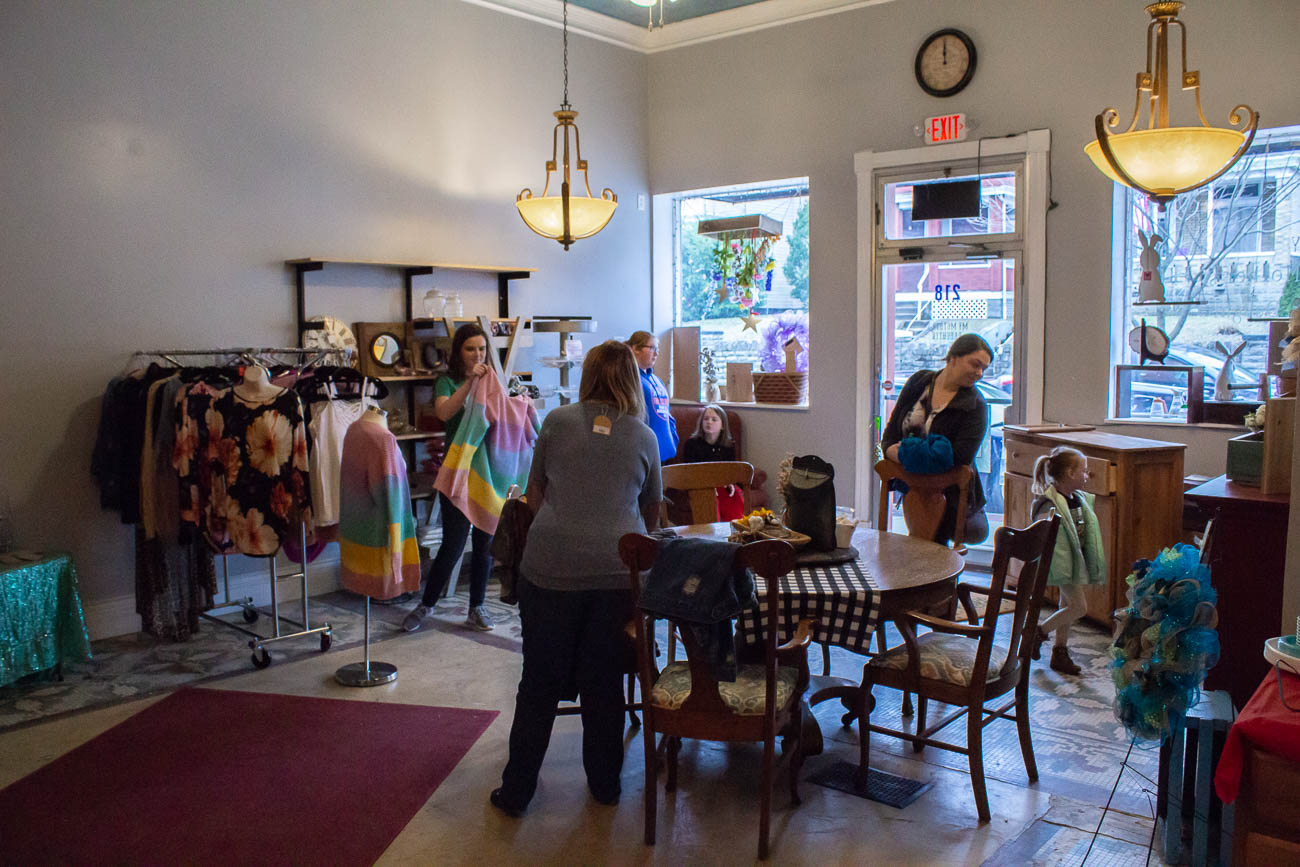 One Saturday a month, Hazel opens her shop to local crafters and vendors to showcase their products and give exposure to other small businesses in the community. / Image: Katie Robinson, Cincinnati Refined // Published: 3.13.19