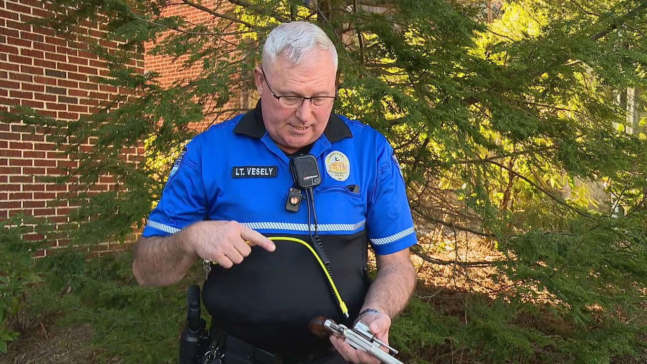 The Hendersonville Police Department will be holding a drive-thru event Saturday to hand out gun safety kits. (Photo credit: WLOS staff)
