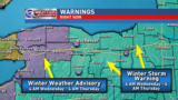 Winter Storm Warnings and Advisories in WNY