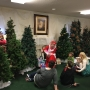 Local children have a pioneer breakfast with Mrs. Claus