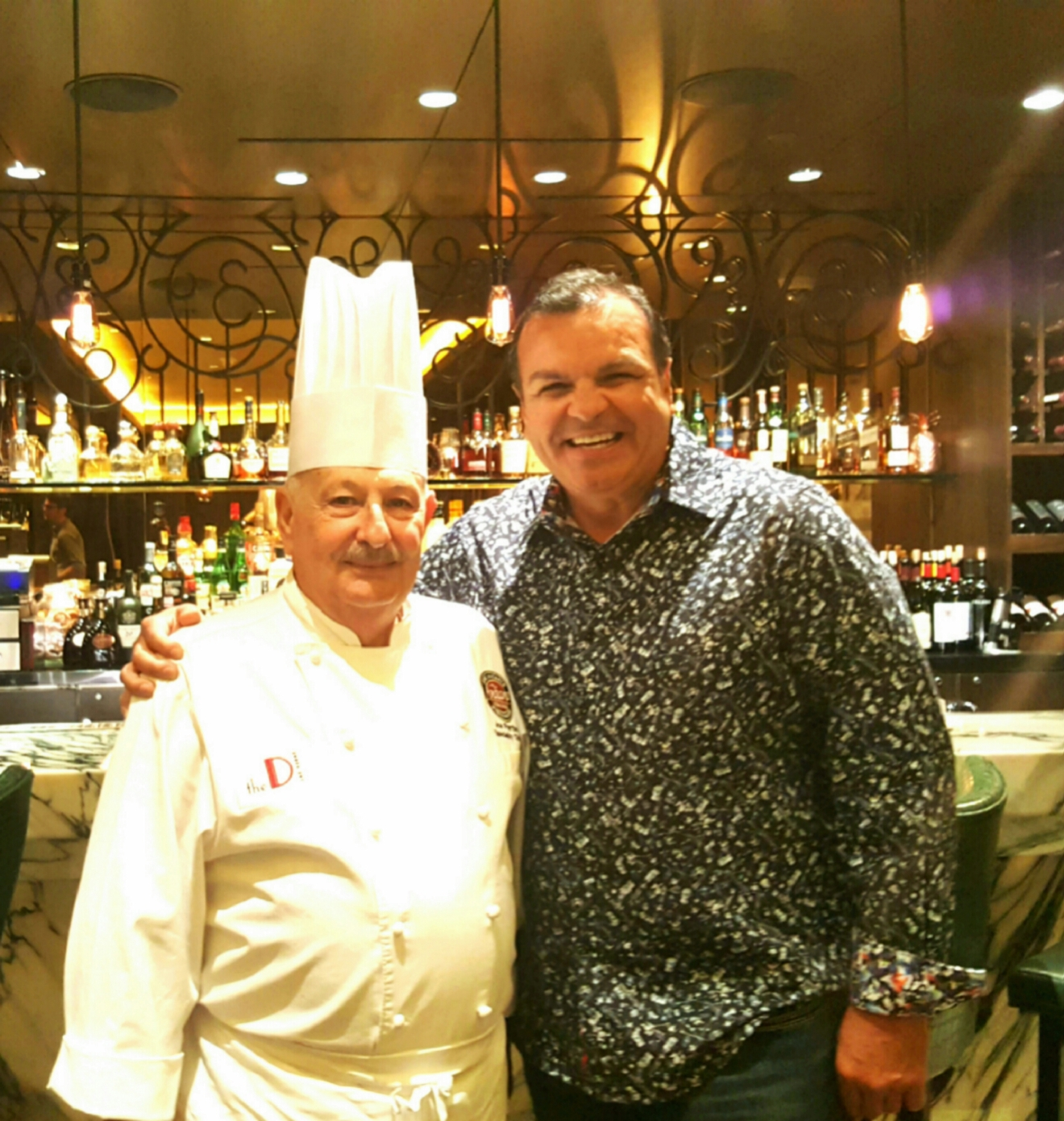 With Chef at Andiamo Steakhouse inside The D Casino Hotel (Photo courtesy Ray O'Canto)