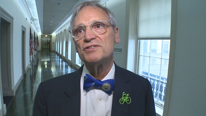 Rep. Earl Blumenauer, D-Ore., speaks to Sinclair Broadcast Group in the U.S. Capitol in Washington, Monday, Nov. 6, 2017. (Sinclair Broadcast Group)<p></p>