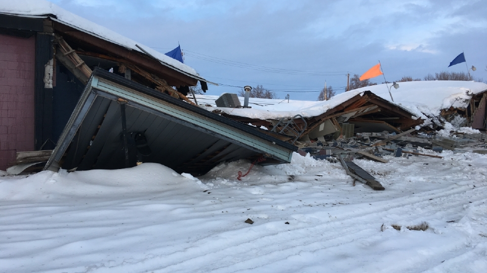 Snow Crushes Bowling Alley - NBC News  |Bowling Alley Snow