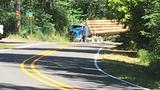 Motorcyclist killed in crash with log truck in Lane County