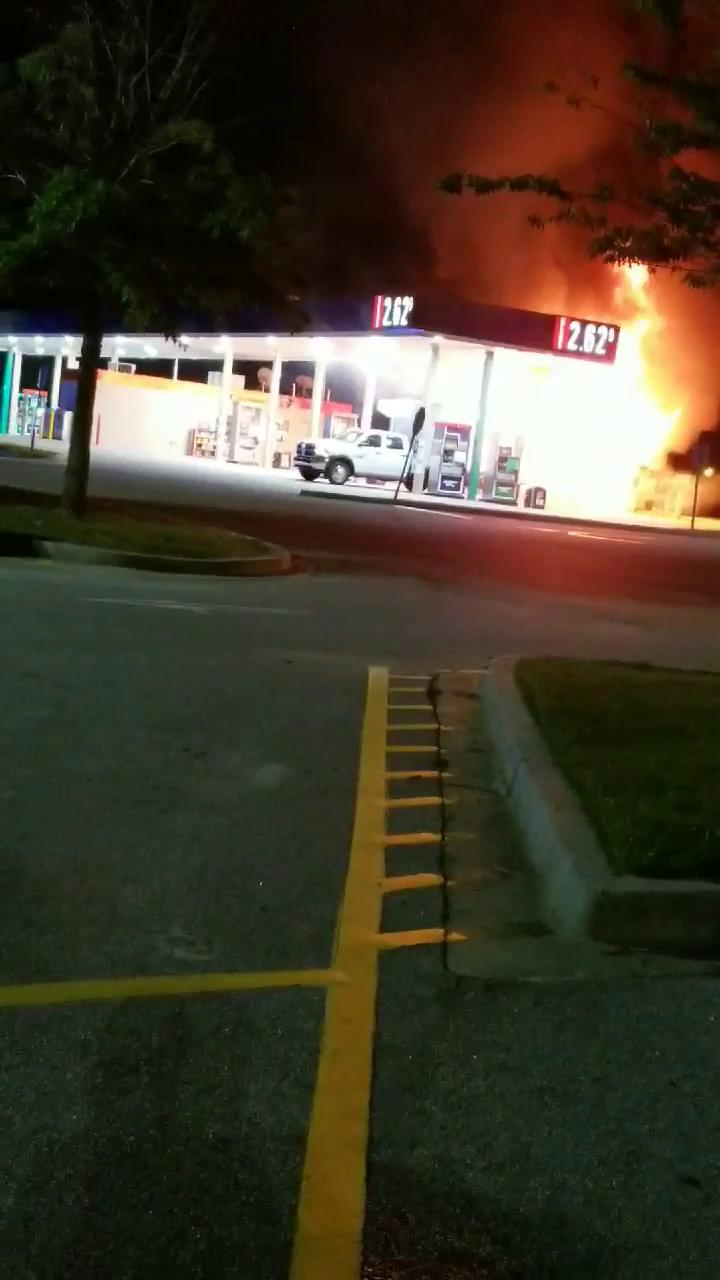 Walterboro Gas Station Fire{ }(provided/Christina Cook)