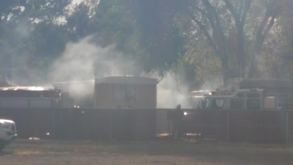 Trailer fire knocked down on Gentry Way in Reno