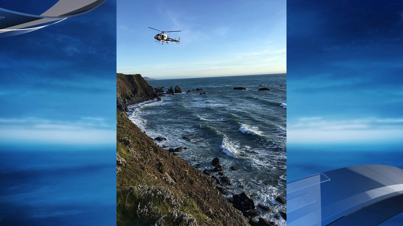 California Highway Patrol says a West Linn family of five died after driving off a cliff on State Route 1. They were found Monday, March 26, 2018. Photo courtesy California Highway Patrol{ }