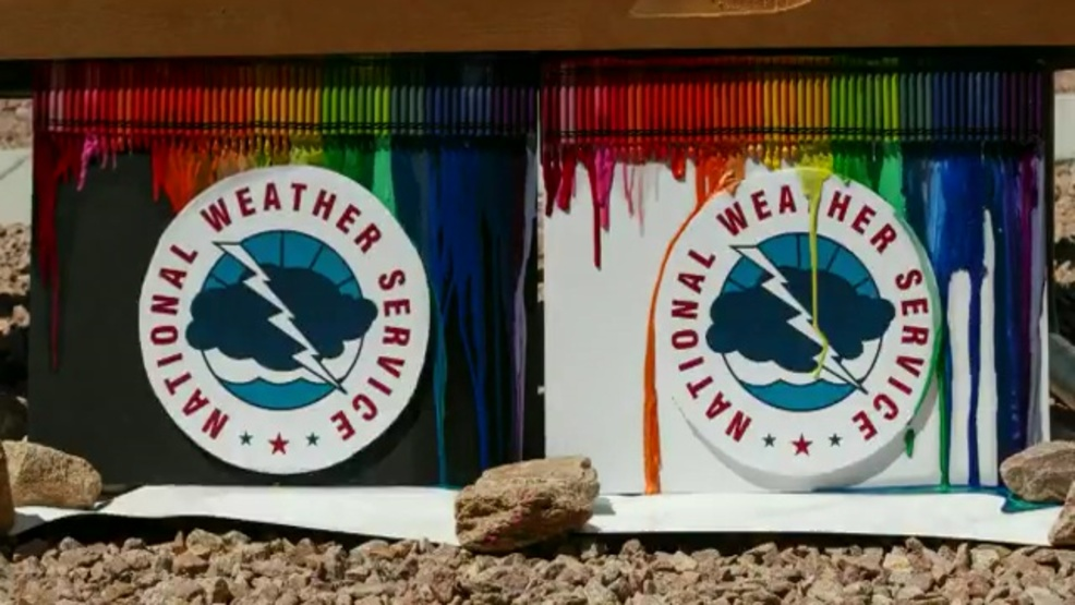 Poor crayons! Colorful video shows why you should wear light colors during heat waves