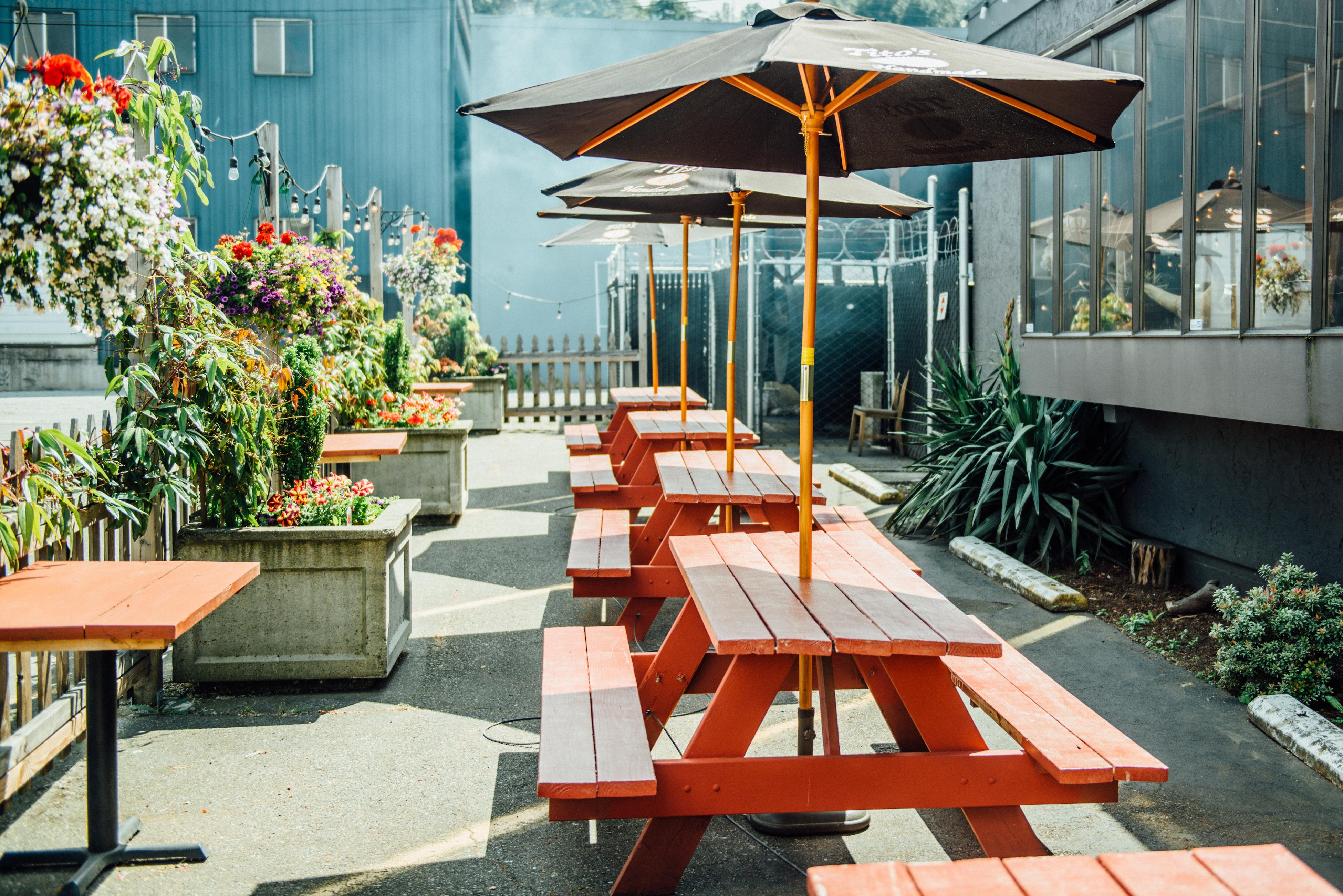 The patio at Jack's BBQ in SoDo. (Image: Audrey Kelly)