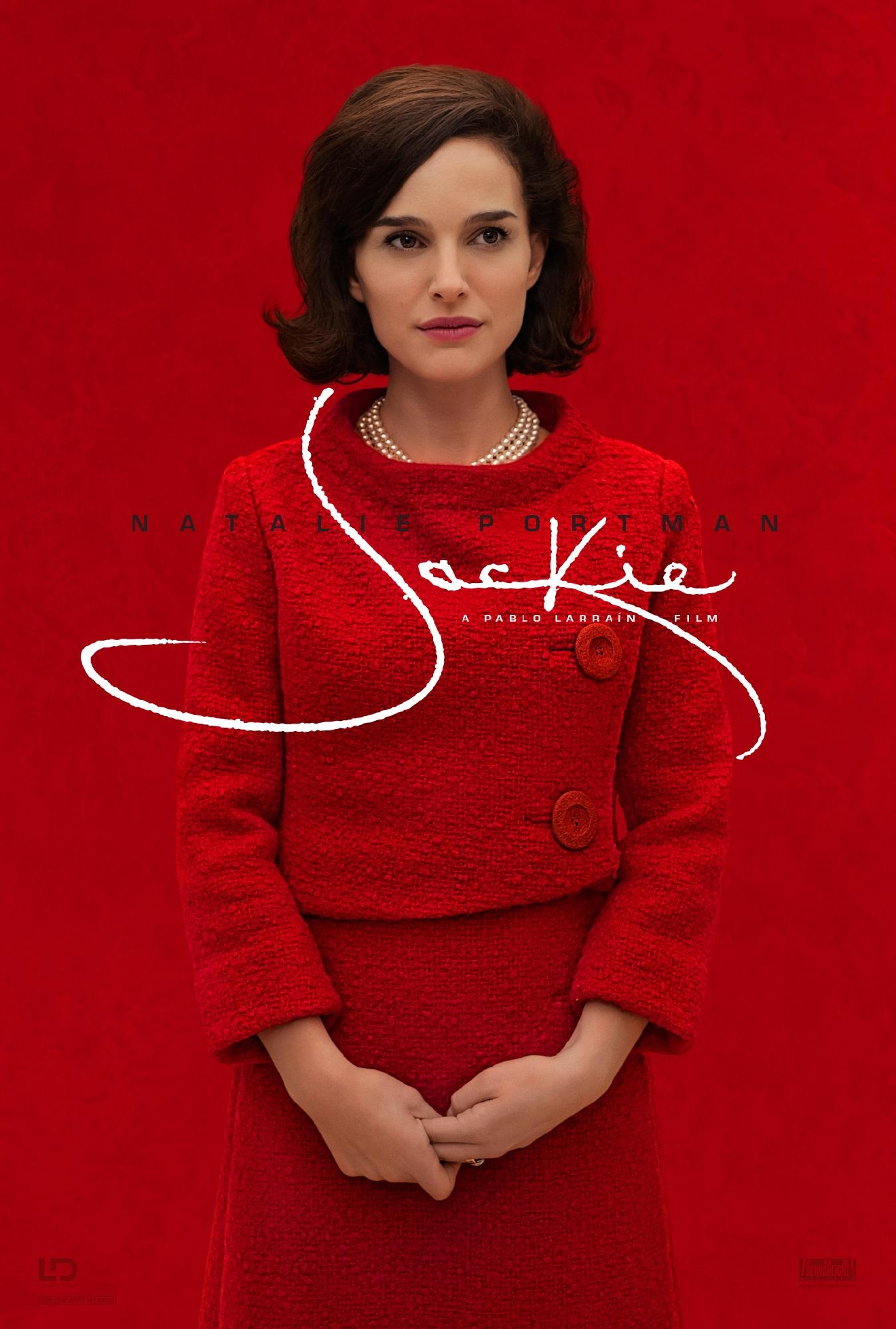 "Official poster for the movie ""Jackie,"" starring Natalie Portman as Jacqueline Kennedy. Courtesy Fox Searchlight Pictures."
