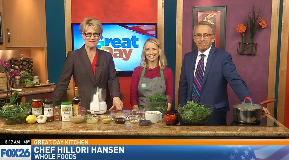 Chef Hillori Hansen, from Whole Foods, located in Fresno, visited the Great Day Kitchen us to prepare some delicious food.