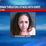 Deputies: Fulton woman threatened others with large knife