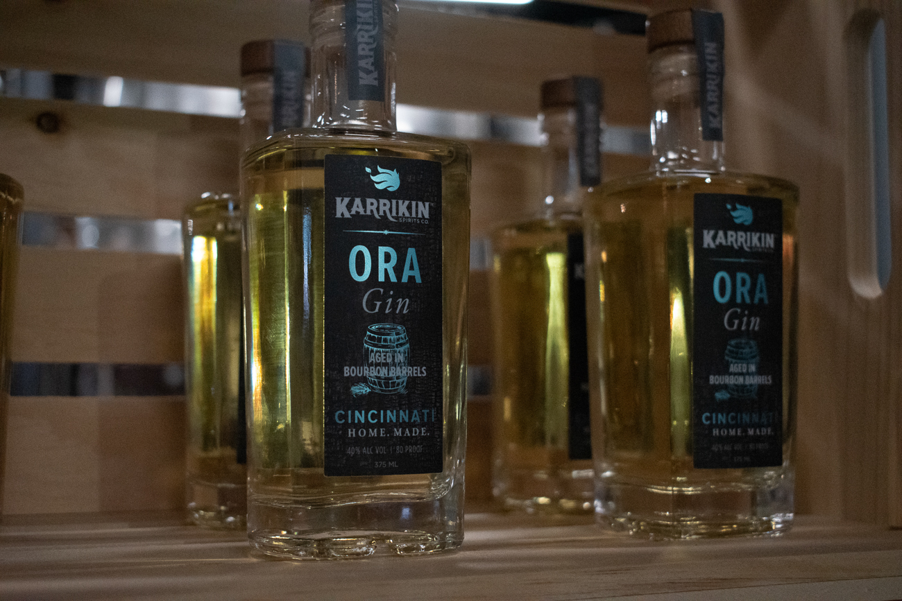 Karrikin's first barrel-aged release, Ora Gin aged in bourbon barrels is available for purchase exclusively at the Fairfax distillery. / Image: Matt Groves // Published: 12.8.19
