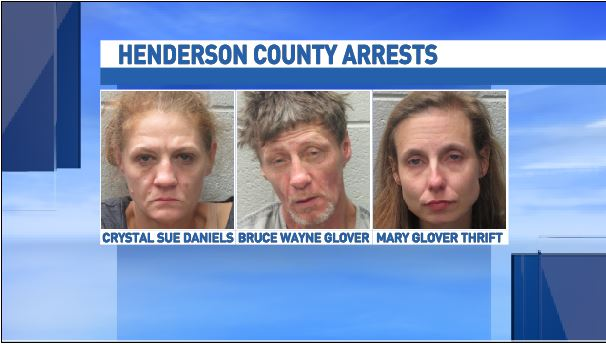 This week Henderson County deputies charged man as a habitual felon, and made three drug arrests. (Photo credit: Henderson County Sheriff's Office)