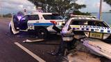 Drivers crash into police cars in Clearwater