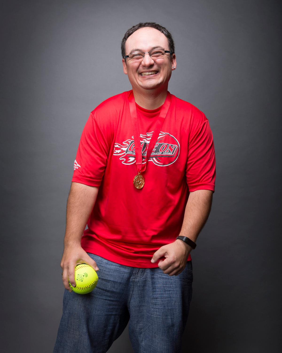 Introducing Jonathon Morales! Jonathon, aka Ricco, will be competing in softball. The Special Olympics USA will take place in Seattle from July 1-6, with a grand opening ceremony and Parade of Athletes and the lighting of the Special Olympics Flame of Hope. (Sy Bean / Seattle Refined)