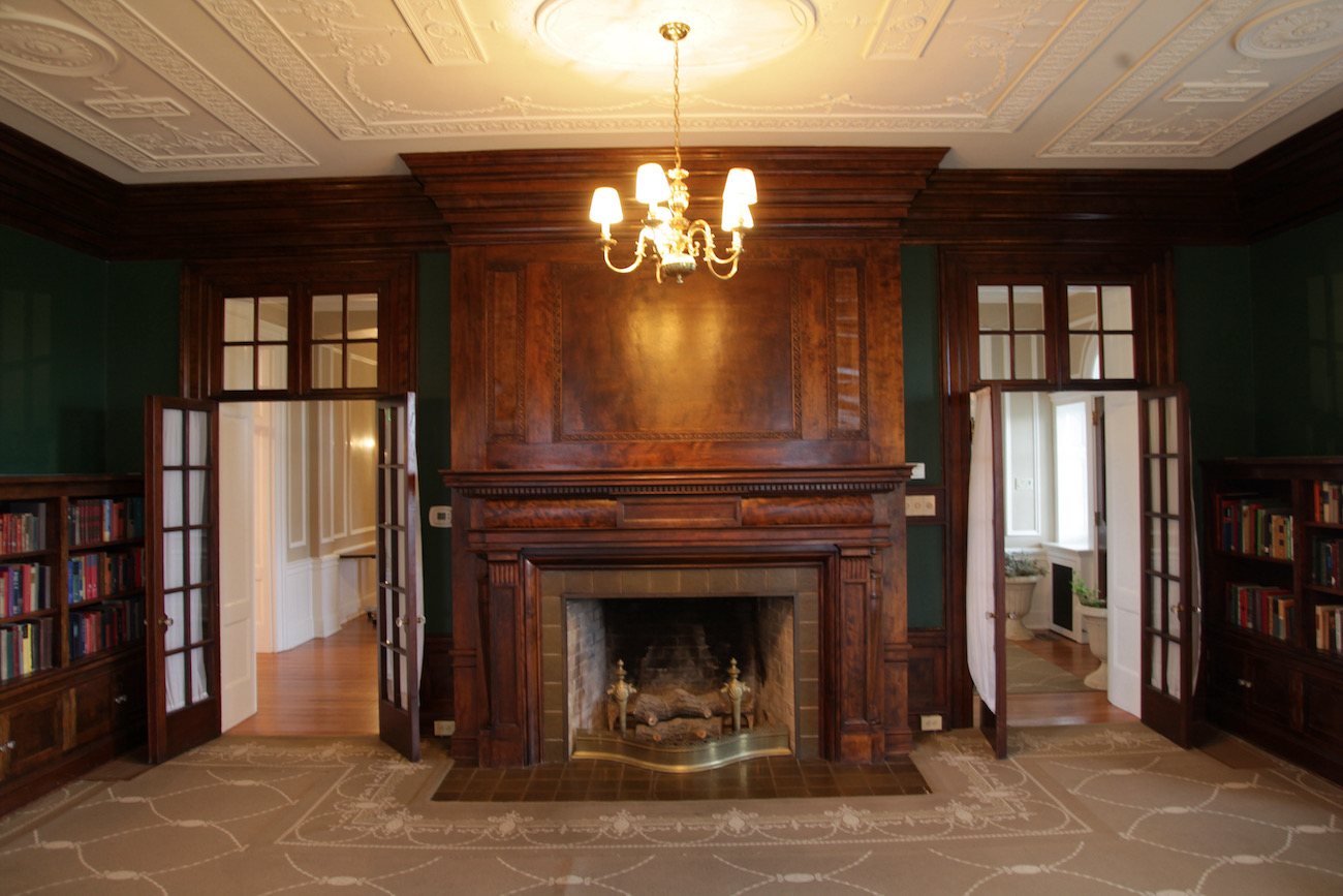 This is one of the 12 fireplaces in Bryn Du Mansion in Granville village. On the National Register of Historic Places, the mansion consists of 52 rooms while the grounds cover more than 50 acres. It is host to various art and flower shows and fundraisers and is a popular wedding venue.{ }ADDRESS: 537 Jones Road, Granville, OH (43023) / Image: Chez Chesak // Published: 2.12.21