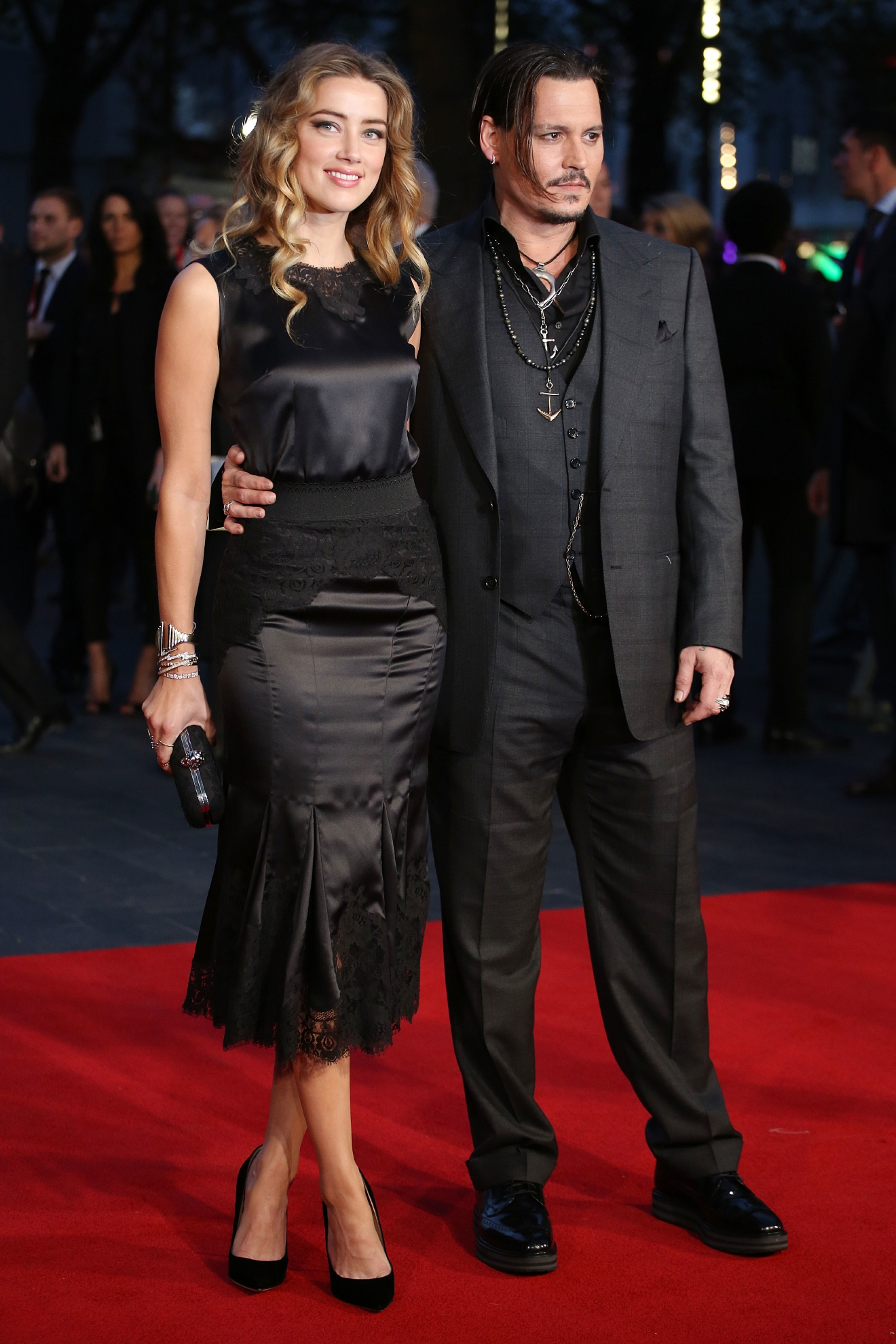 BFI London Film Festival - Black Mass premiere held at the Odeon Cinema - Arrivals  Featuring: Amber Heard, Johnny Depp Where: London, United Kingdom When: 11 Oct 2015 Credit: Lia Toby/WENN.com