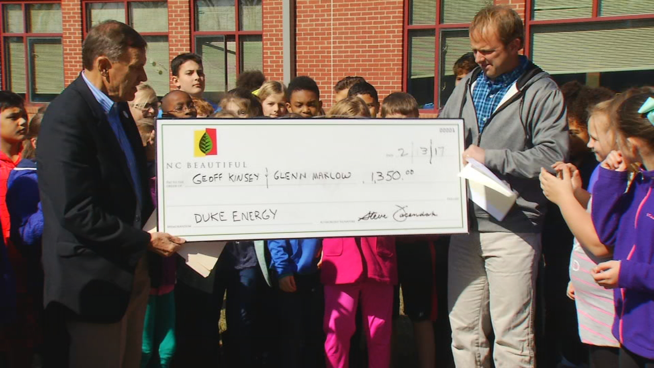Glenn C. Marlow Elementary, Hendersonville Elementary and Apple Valley  Middle schools were presented with