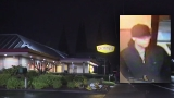 New video, photos released of suspect accused of lighting man on fire at Denny's