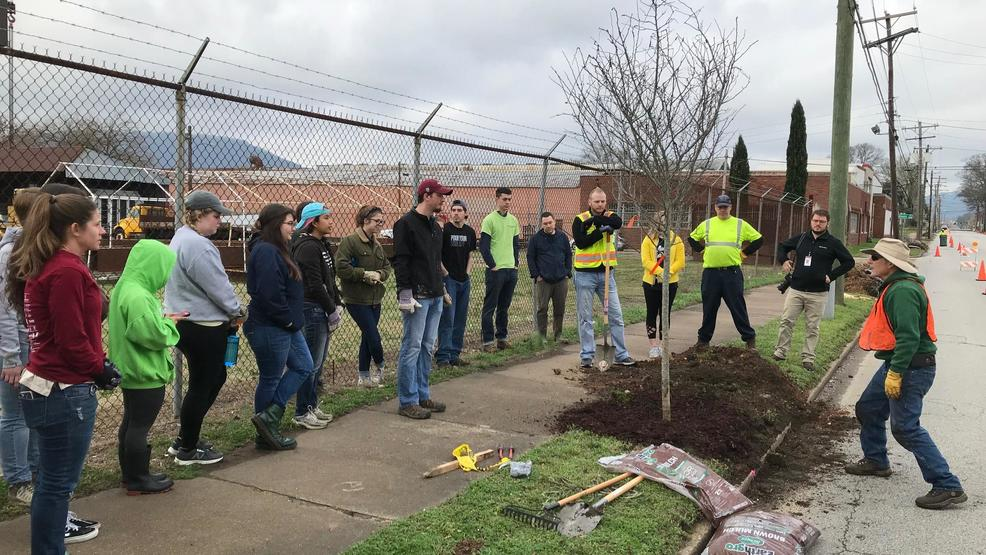 Arbor Day workday3 Nessle instructs on proper planting..jpg